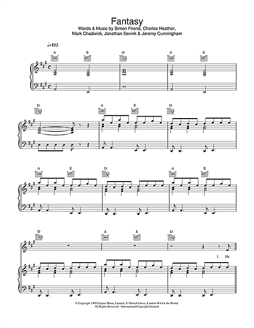 Appleton Fantasy sheet music notes and chords