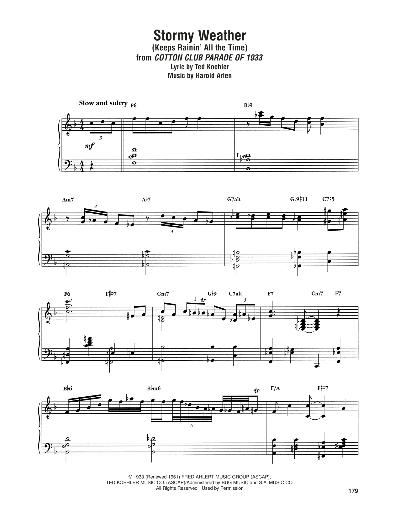 Download Art Tatum 'Stormy Weather (Keeps Rainin' All The Time)' Digital Sheet Music Notes & Chords and start playing in minutes