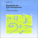 Download Arthur Frackenpohl Rhapsody For Solo Saxophone Sheet Music arranged for Woodwind Solo - printable PDF music score including 2 page(s)