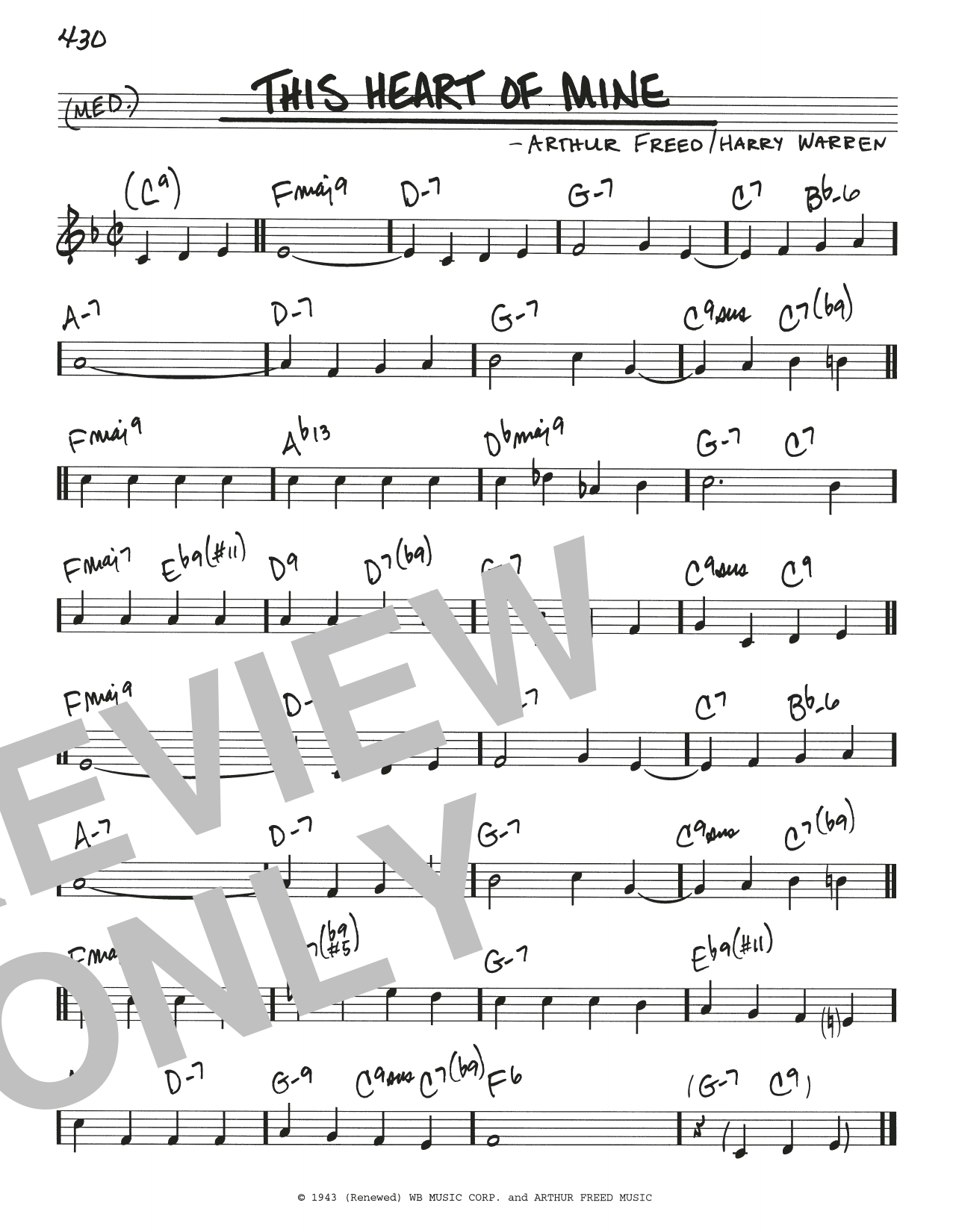Arthur Freed & Henry Warren This Heart Of Mine sheet music notes and chords