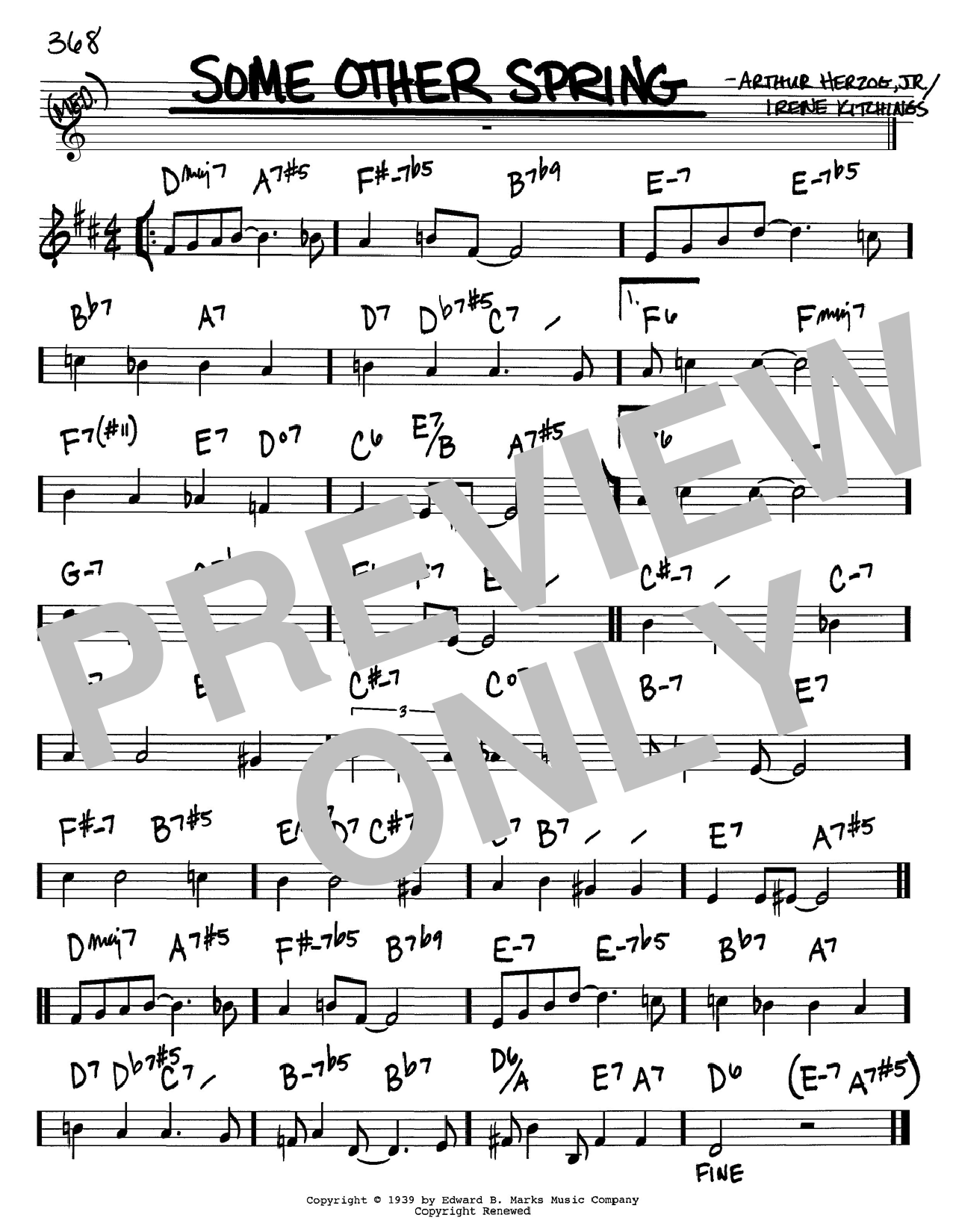 Download Arthur Herzog Jr. 'Some Other Spring' Digital Sheet Music Notes & Chords and start playing in minutes