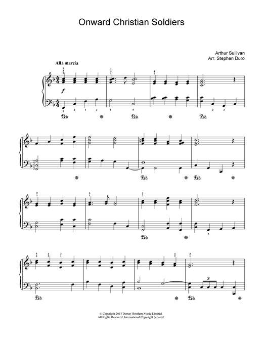 Arthur Seymour Sullivan Onward Christian Soldiers sheet music notes and chords