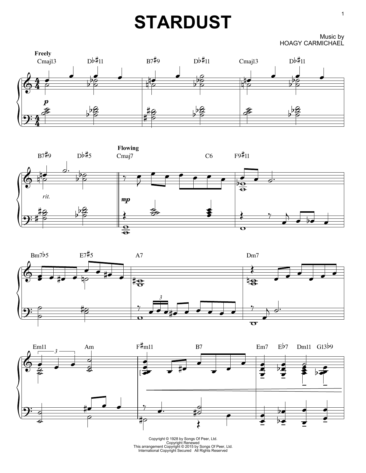 Download Artie Shaw 'Stardust' Digital Sheet Music Notes & Chords and start playing in minutes