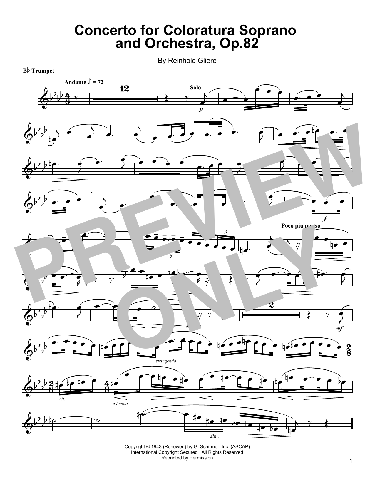 Download Arturo Sandoval 'Concerto For Coloratura Soprano And Orchestra, Op. 82' Digital Sheet Music Notes & Chords and start playing in minutes