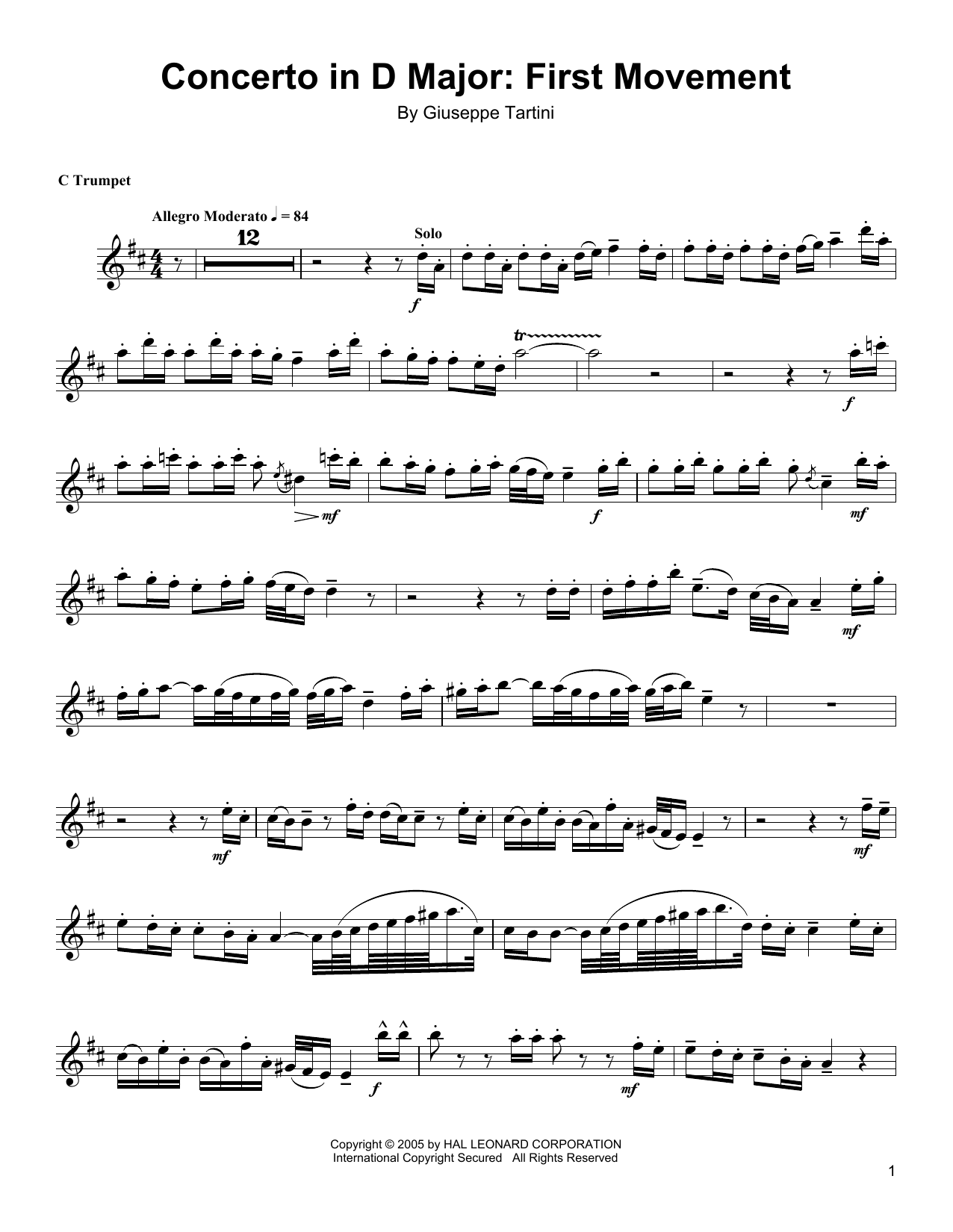 Download Arturo Sandoval 'Concerto In D Major: First Movement' Digital Sheet Music Notes & Chords and start playing in minutes