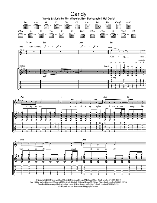 Ash Candy sheet music notes and chords