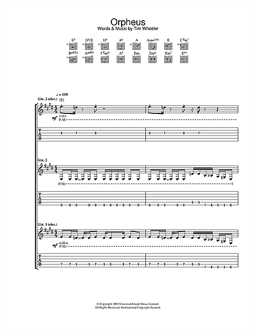 Ash Orpheus sheet music notes and chords