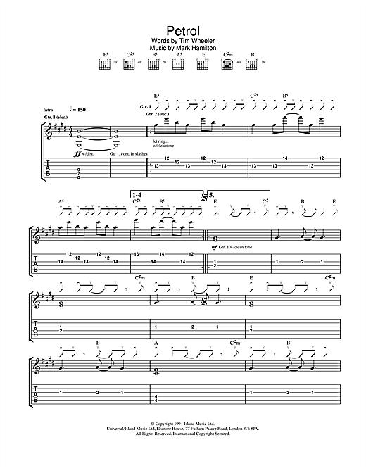 Ash Petrol sheet music notes and chords