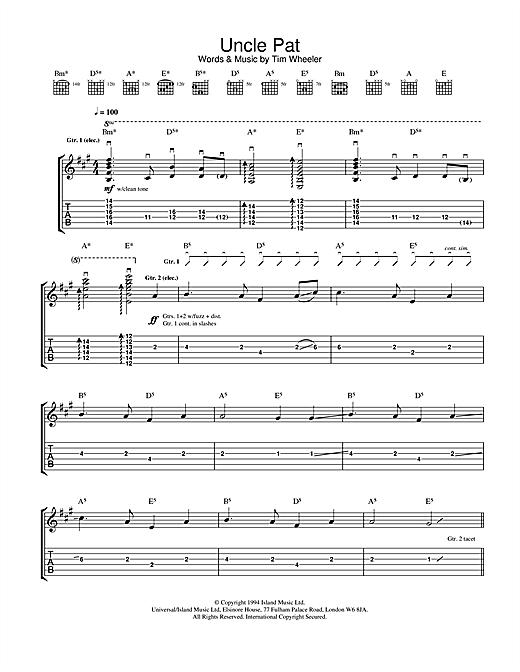 Ash Uncle Pat sheet music notes and chords