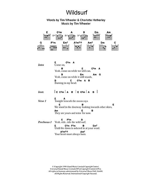 Ash Wildsurf sheet music notes and chords