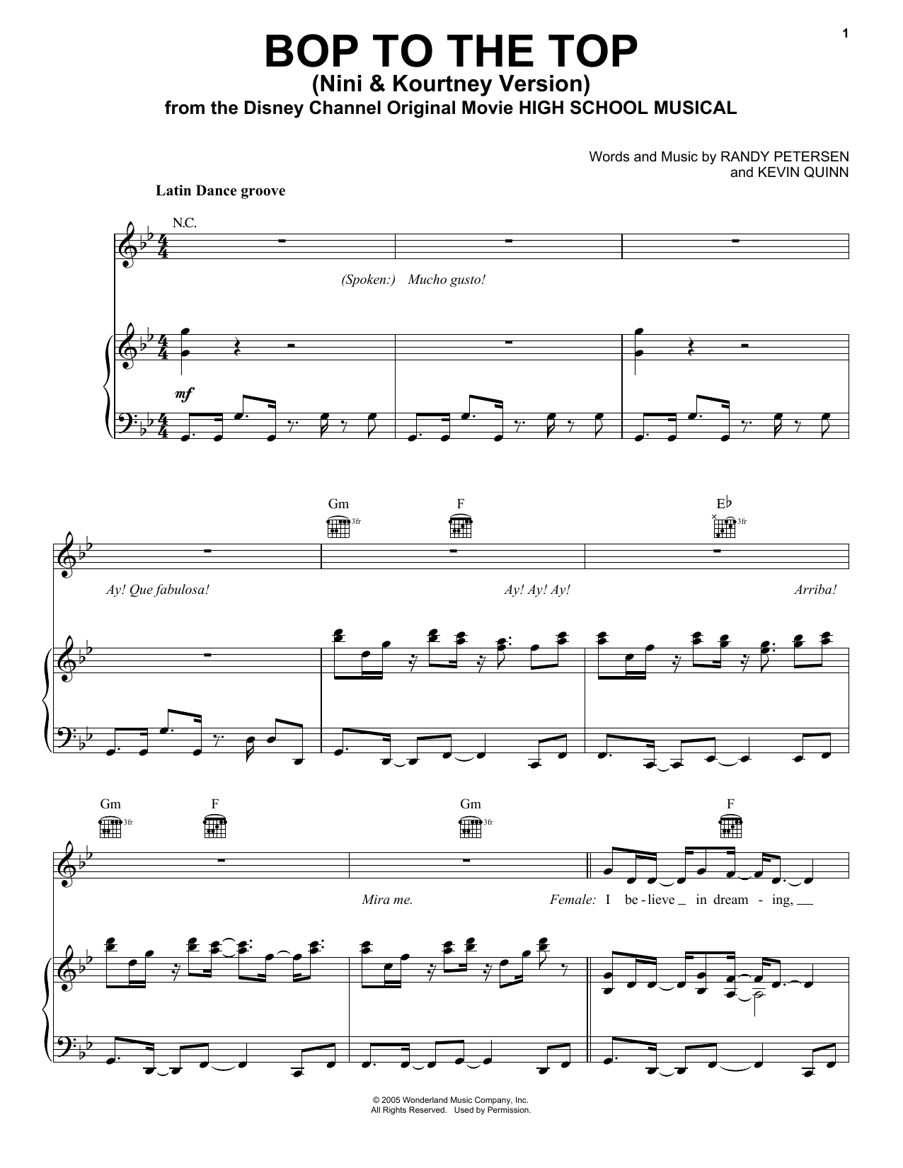 Lucas Gabreel Bop To The Top sheet music preview music notes and score for Easy Piano including 6 page(s)