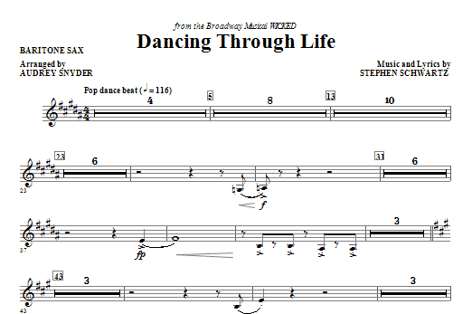 Download Audrey Snyder 'Dancing Through Life - Baritone Sax' Digital Sheet Music Notes & Chords and start playing in minutes