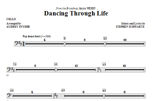 Download Audrey Snyder 'Dancing Through Life - Cello' Digital Sheet Music Notes & Chords and start playing in minutes