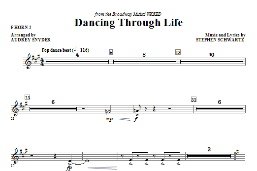 Download Audrey Snyder 'Dancing Through Life - F Horn 2' Digital Sheet Music Notes & Chords and start playing in minutes