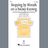 Download Audrey Snyder Stopping By Woods On A Snowy Evening Sheet Music arranged for 2-Part Choir - printable PDF music score including 11 page(s)