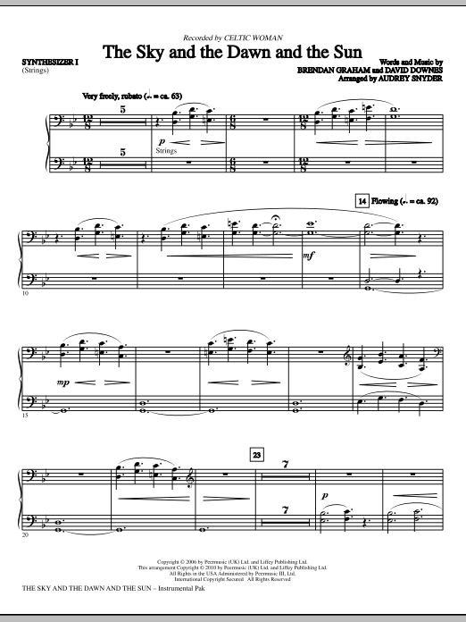 Download Audrey Snyder 'The Sky And The Dawn And The Sun - Synthesizer I' Digital Sheet Music Notes & Chords and start playing in minutes