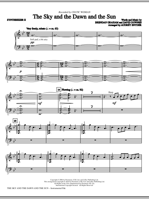 Download Audrey Snyder 'The Sky And The Dawn And The Sun - Synthesizer II' Digital Sheet Music Notes & Chords and start playing in minutes
