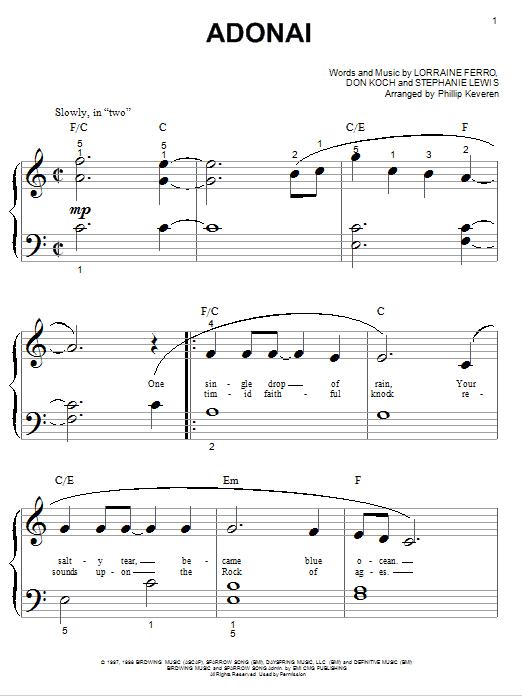 Avalon Adonai sheet music notes and chords