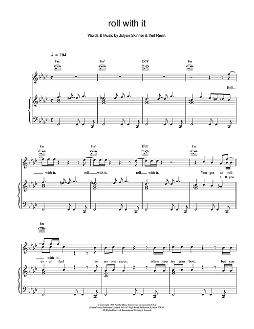 Backstreet Boys Roll With It sheet music notes and chords