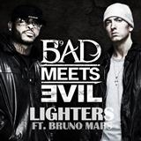 Download or print Lighters (feat. Bruno Mars) Sheet Music Notes by Bad Meets Evil for Piano, Vocal & Guitar (Right-Hand Melody)
