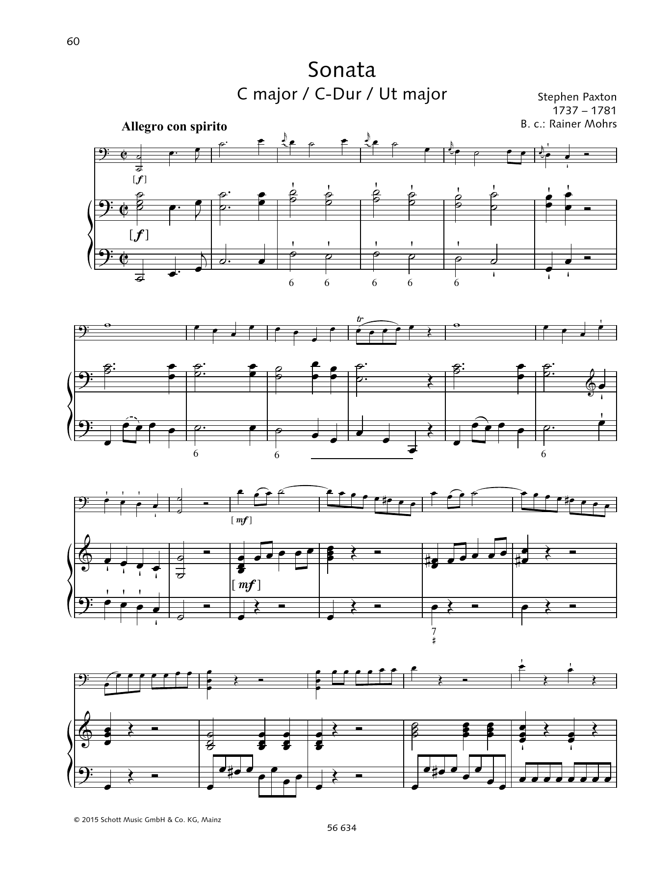 Baldassare Galuppi Sonata C Major sheet music preview music notes and score for Piano Duet including 20 page(s)