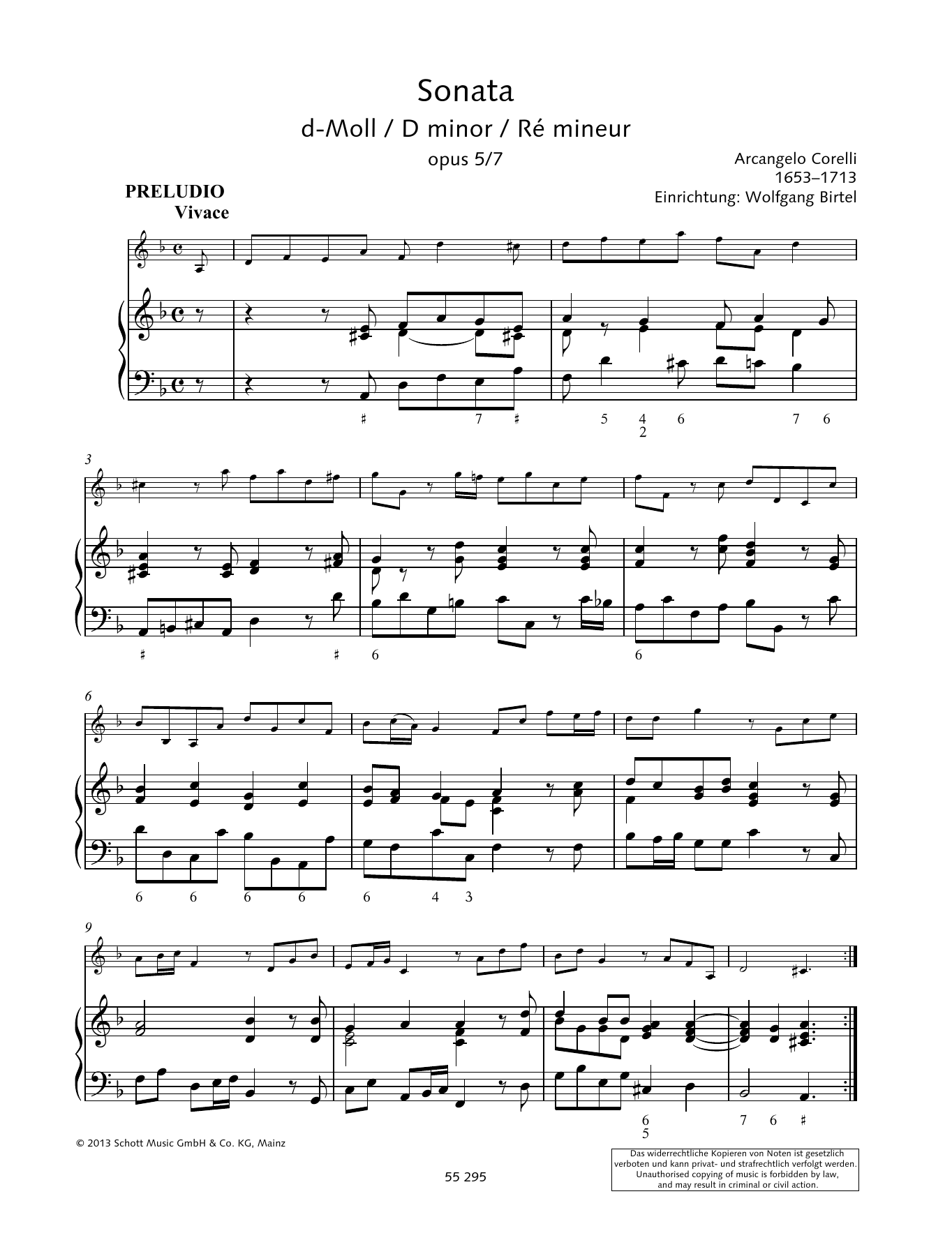 Baldassare Galuppi Sonata D Minor sheet music preview music notes and score for Woodwind Solo including 16 page(s)
