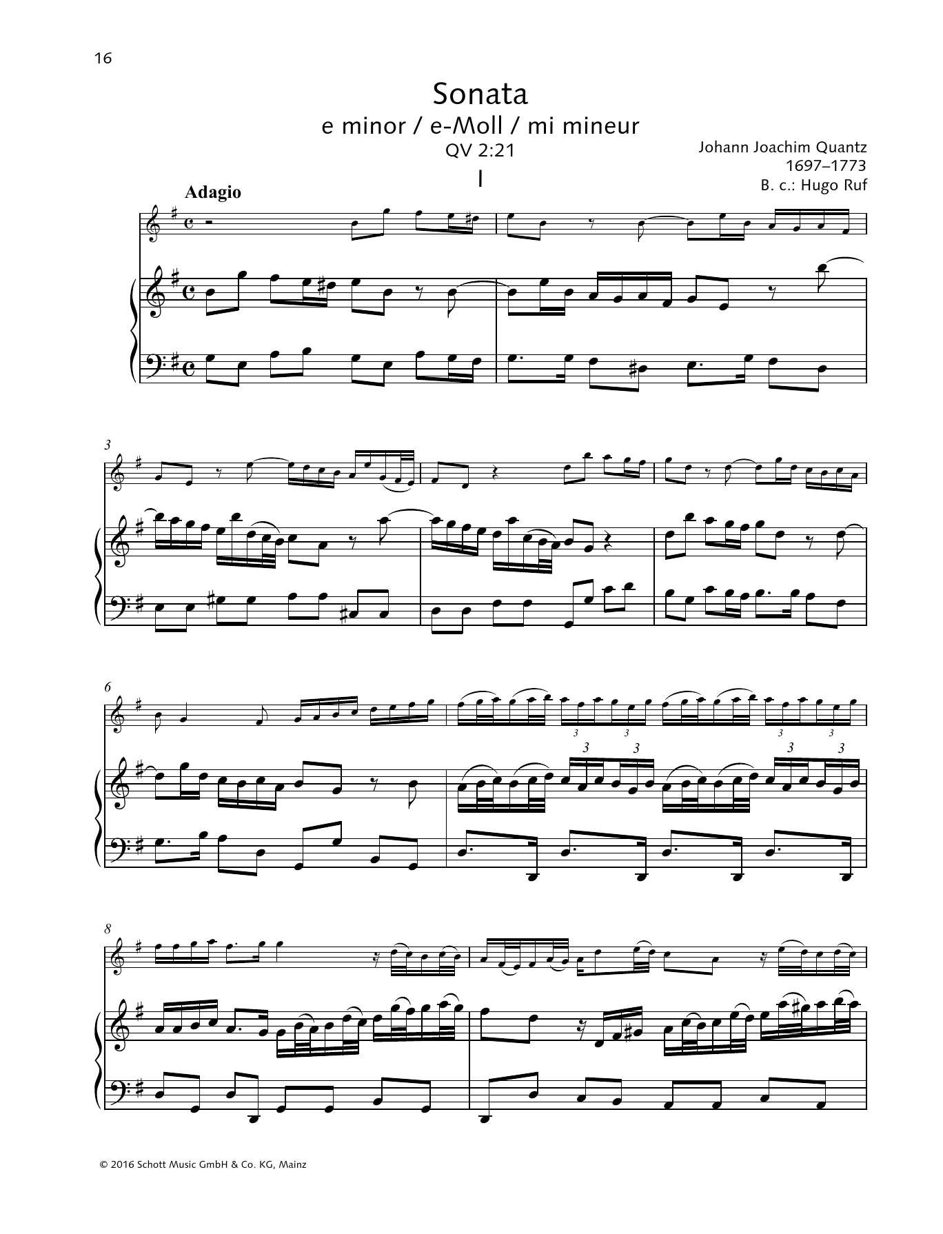Baldassare Galuppi Sonata E minor sheet music preview music notes and score for String Solo including 28 page(s)