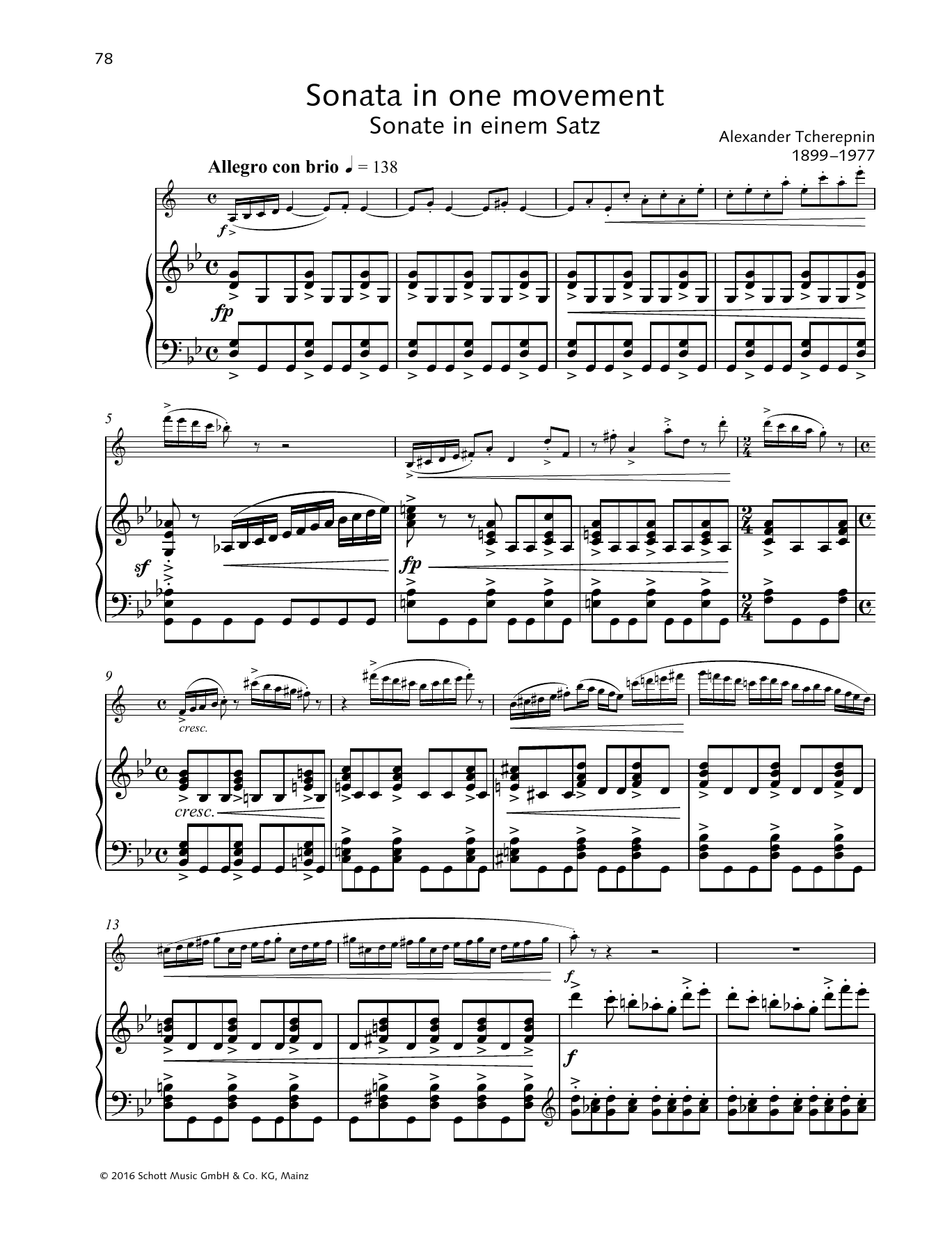 Baldassare Galuppi Sonata in One Movement sheet music preview music notes and score for Woodwind Solo including 15 page(s)