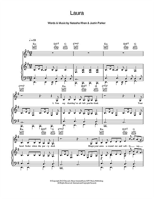 Download Bat For Lashes 'Laura' Digital Sheet Music Notes & Chords and start playing in minutes