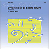 Download Beck Diversities For Snare Drum Sheet Music arranged for Percussion - printable PDF music score including 17 page(s)
