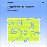 Download Beck Fragments For Timpani Sheet Music arranged for Percussion - printable PDF music score including 4 page(s)