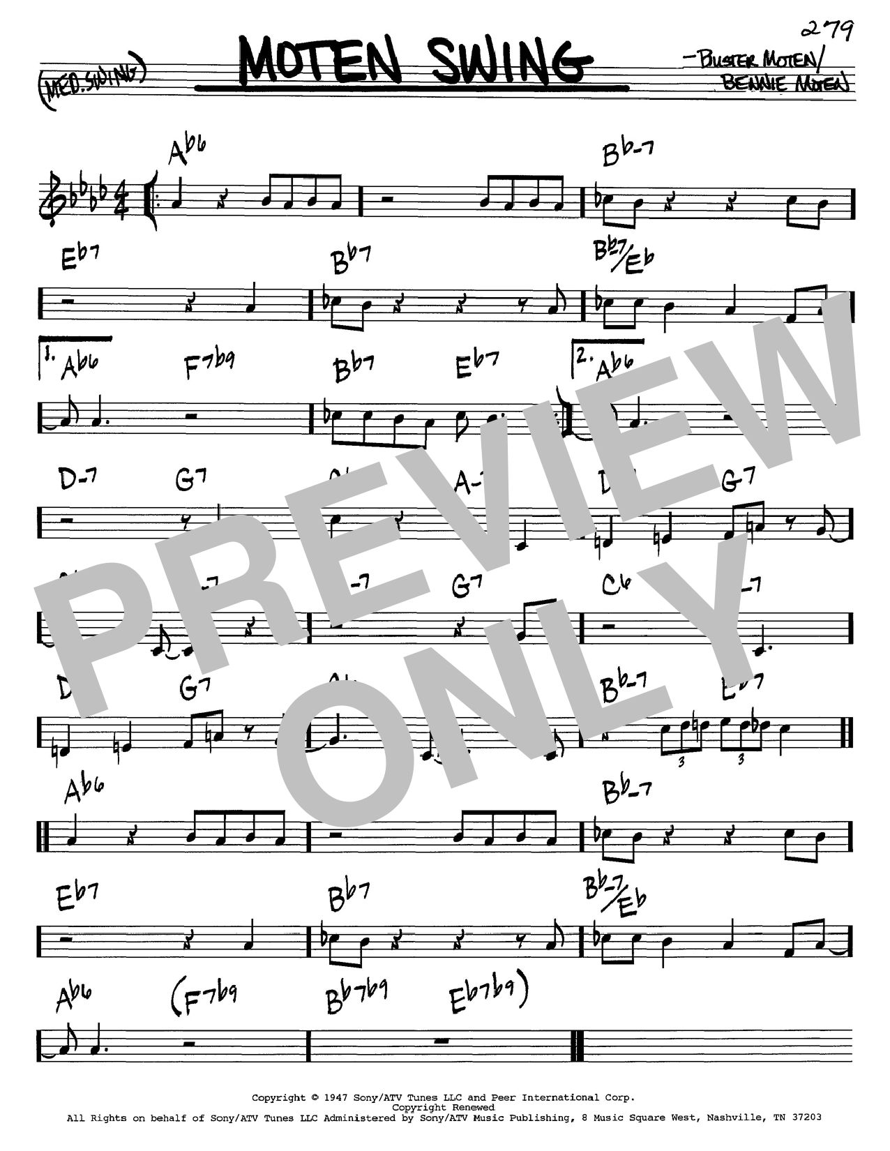 Download Bennie Moten 'Moten Swing' Digital Sheet Music Notes & Chords and start playing in minutes