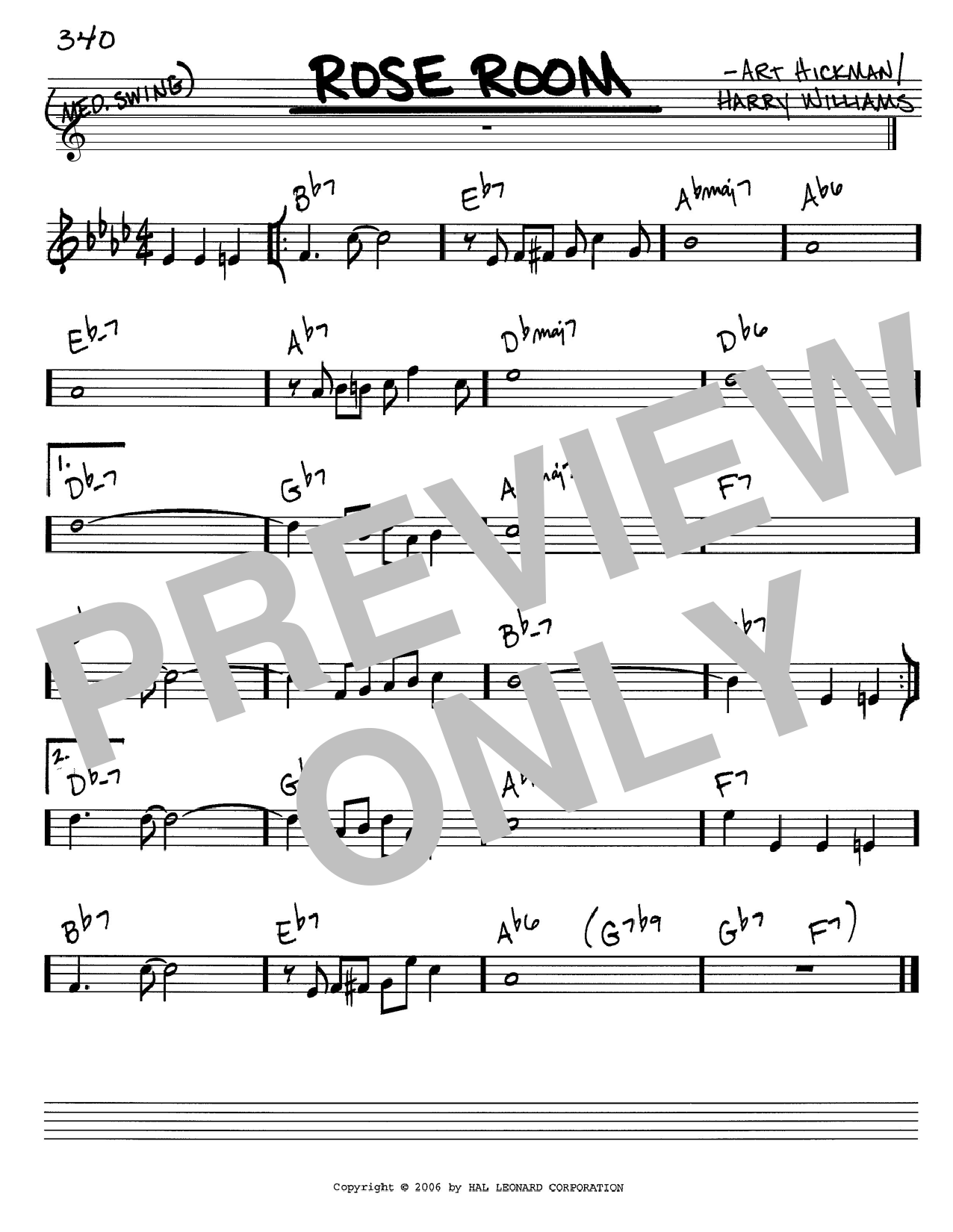Download Benny Goodman 'Rose Room' Digital Sheet Music Notes & Chords and start playing in minutes