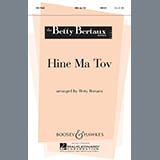 Download or print Hine Ma Tov Sheet Music Notes by Betty Bertaux for Unison Choral
