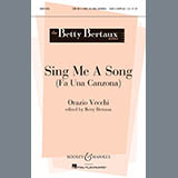 Download Betty Bertaux Sing Me A Song (Fa Una Canzona) Sheet Music arranged for SATB - printable PDF music score including 5 page(s)