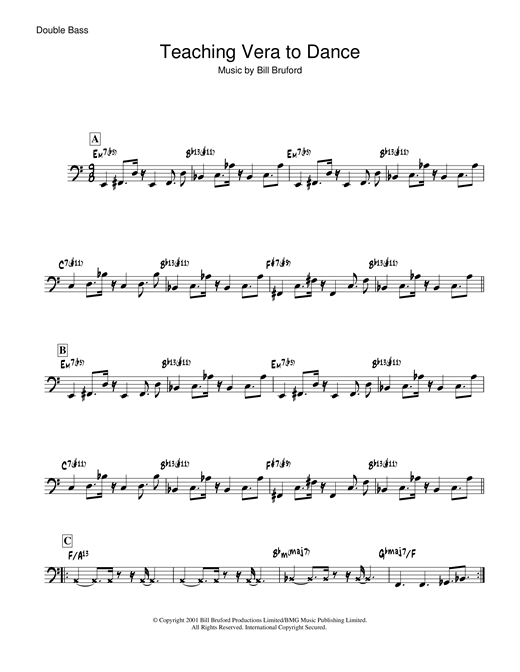 Download Bill Bruford 'Teaching Vera To Dance' Digital Sheet Music Notes & Chords and start playing in minutes