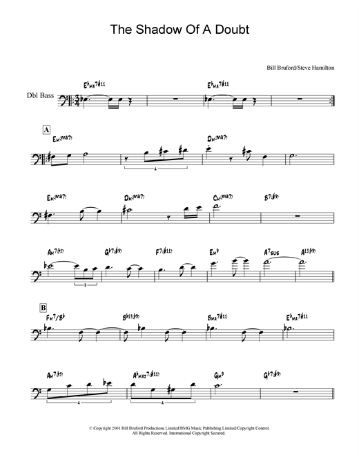 Download Bill Bruford 'The Shadow Of A Doubt' Digital Sheet Music Notes & Chords and start playing in minutes