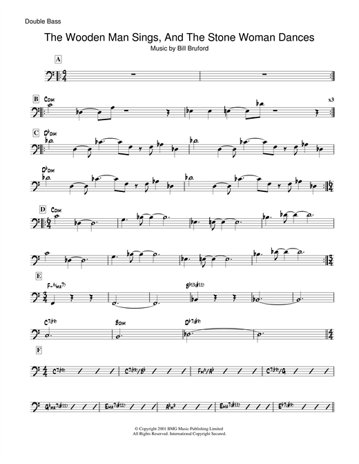 Download Bill Bruford 'The Wooden Man Sings And The Stone Woman Dances' Digital Sheet Music Notes & Chords and start playing in minutes