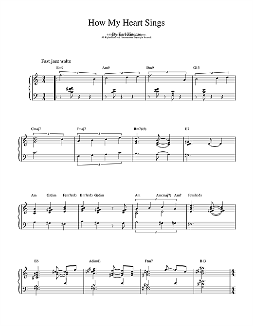 Download Bill Evans 'How My Heart Sings' Digital Sheet Music Notes & Chords and start playing in minutes