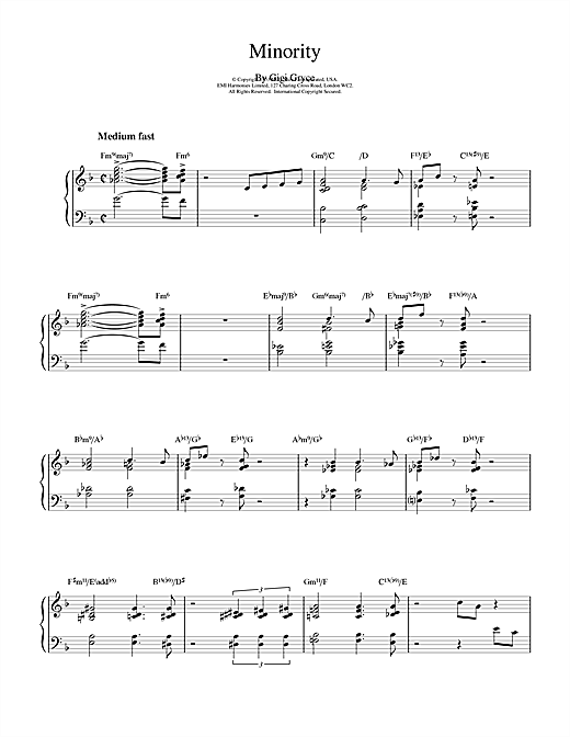Download Bill Evans 'Minority' Digital Sheet Music Notes & Chords and start playing in minutes