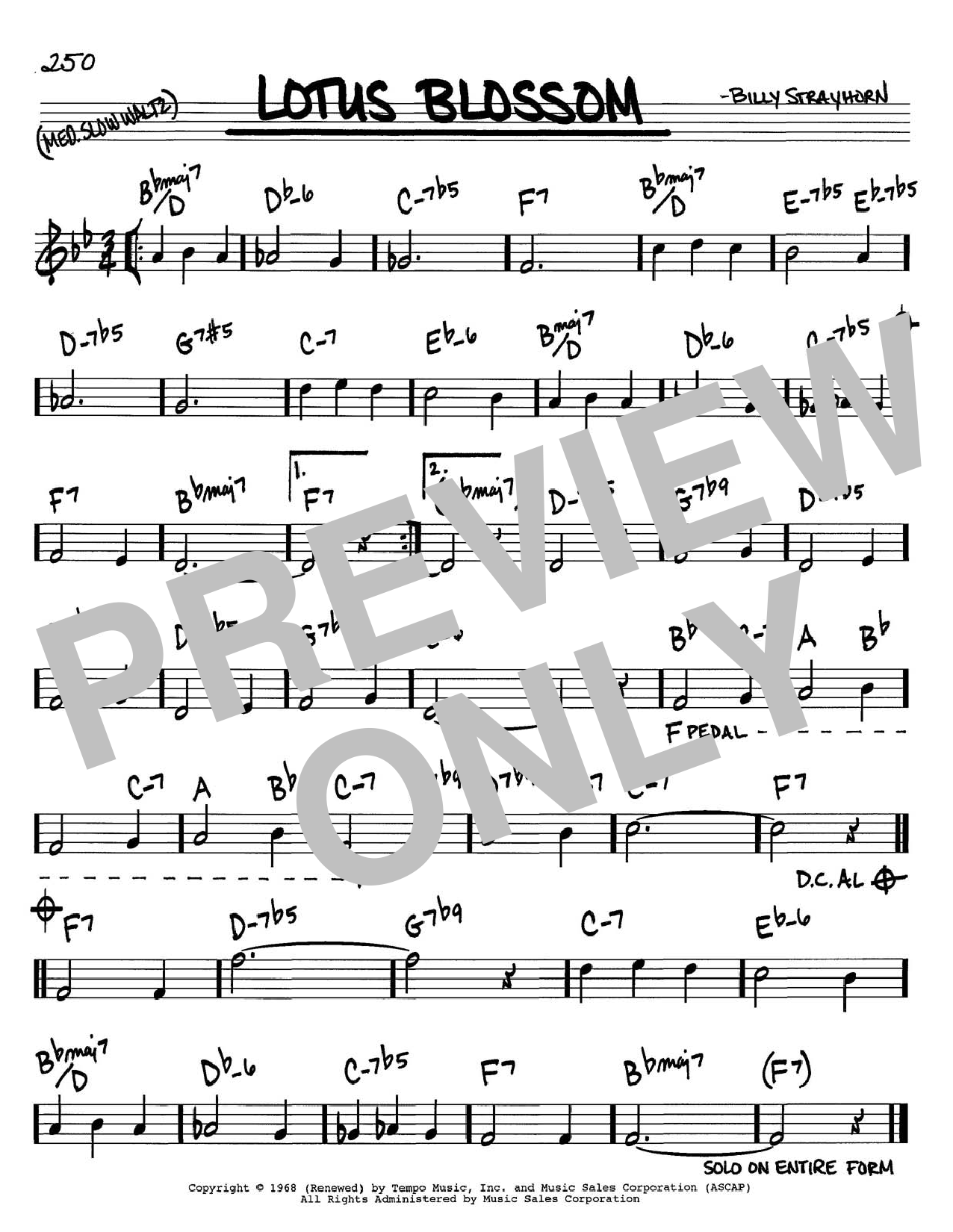 Download Billy Strayhorn 'Lotus Blossom' Digital Sheet Music Notes & Chords and start playing in minutes