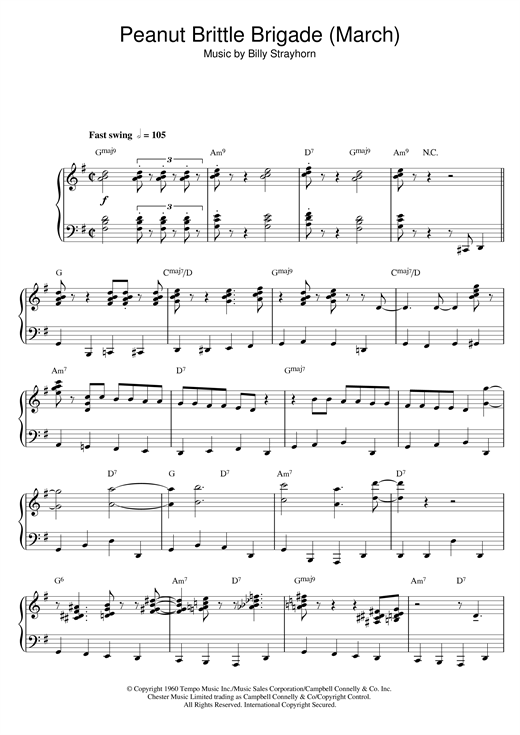 Download Billy Strayhorn 'Peanut Brittle Brigade (From The Nutcracker Suite)' Digital Sheet Music Notes & Chords and start playing in minutes