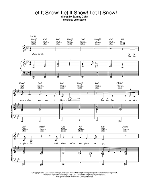 Bing Crosby Let It Snow! Let It Snow! Let It Snow! sheet music notes and chords
