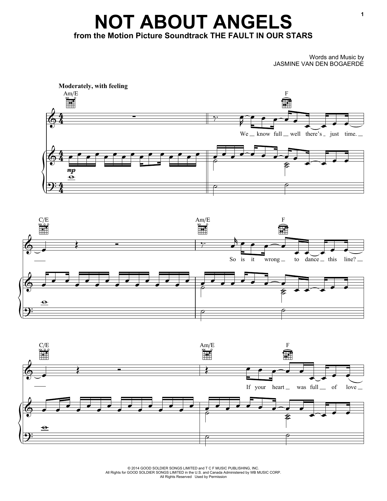 Download Birdy 'Not About Angels' Digital Sheet Music Notes & Chords and start playing in minutes