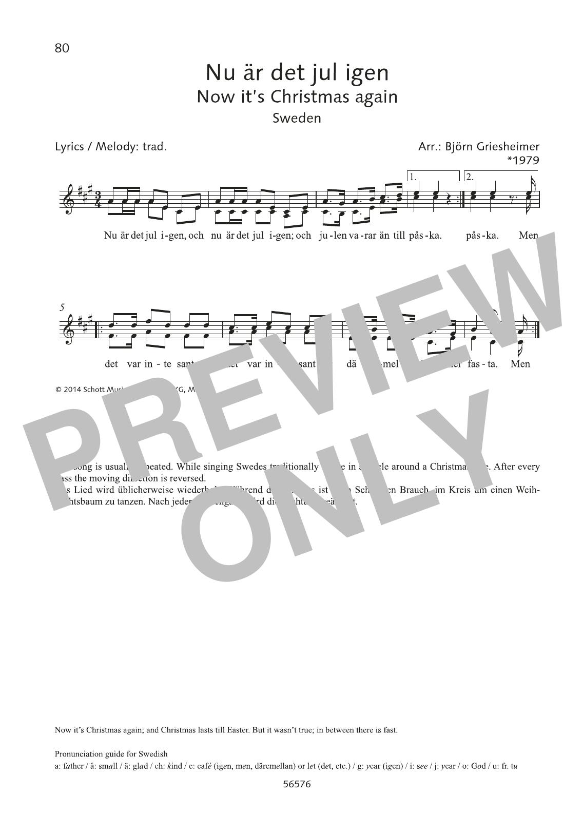 Björn Griesheimer Nu är det jul igen sheet music preview music notes and score for Choir including 1 page(s)