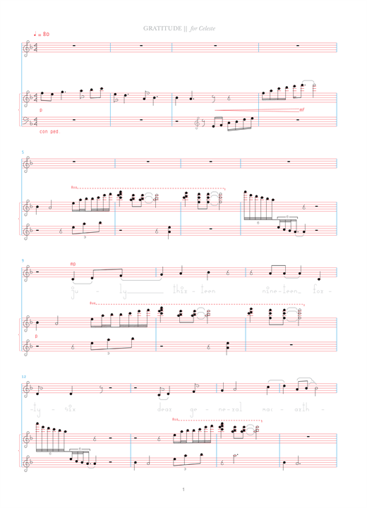 Download Bjork 'Gratitude' Digital Sheet Music Notes & Chords and start playing in minutes
