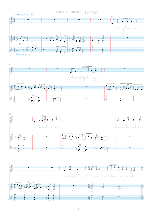 Download Bjork 'The Anchor Song' Digital Sheet Music Notes & Chords and start playing in minutes