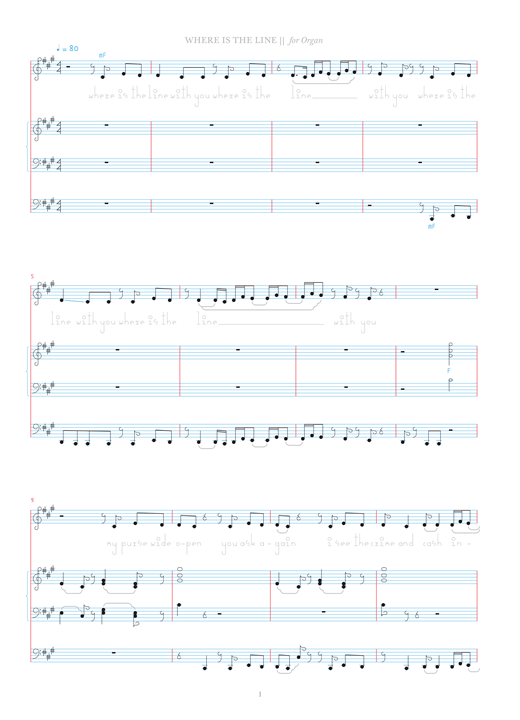 Download Bjork 'Where Is The Line?' Digital Sheet Music Notes & Chords and start playing in minutes