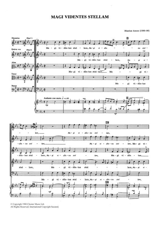 Download Blasius Amon 'Magi Videntes Stellam' Digital Sheet Music Notes & Chords and start playing in minutes