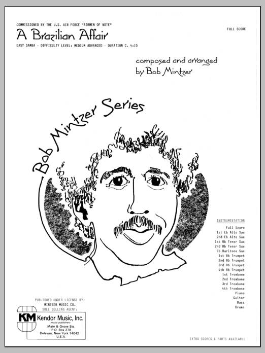 Bob Mintzer Brazilian Affair - Full Score sheet music preview music notes and score for Jazz Ensemble including 9 page(s)